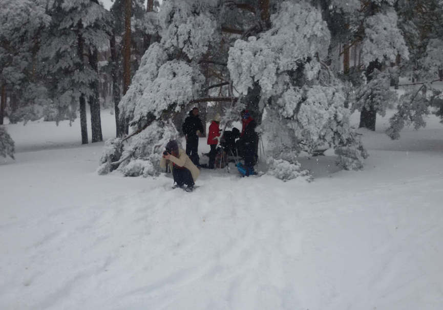 Medium excursion la pinilla raquetas nieve