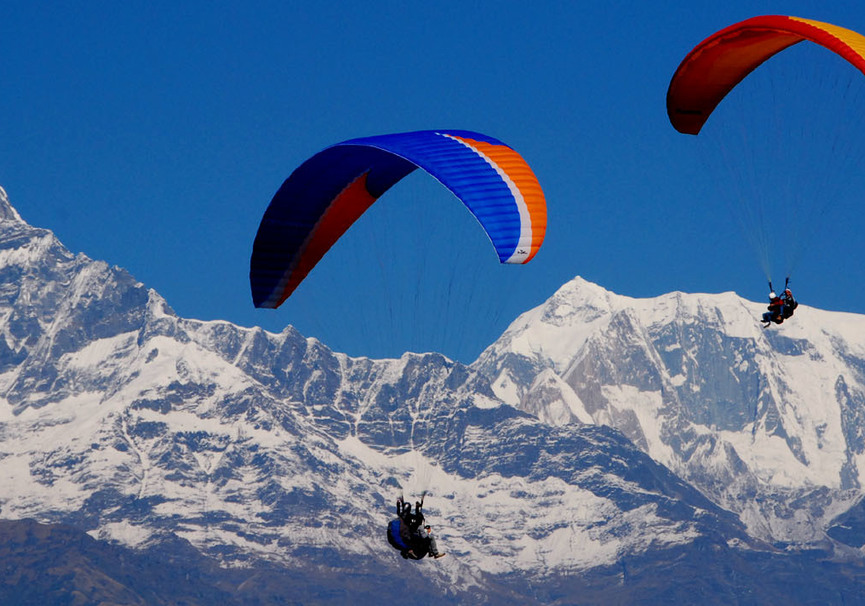 Medium paragliding pokhara
