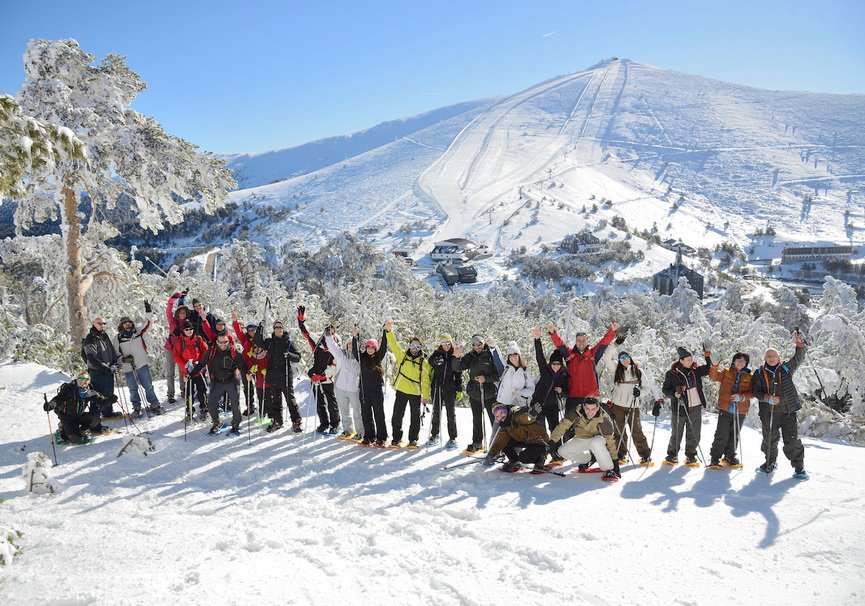 Medium excursiones raquetas de nieve madrid