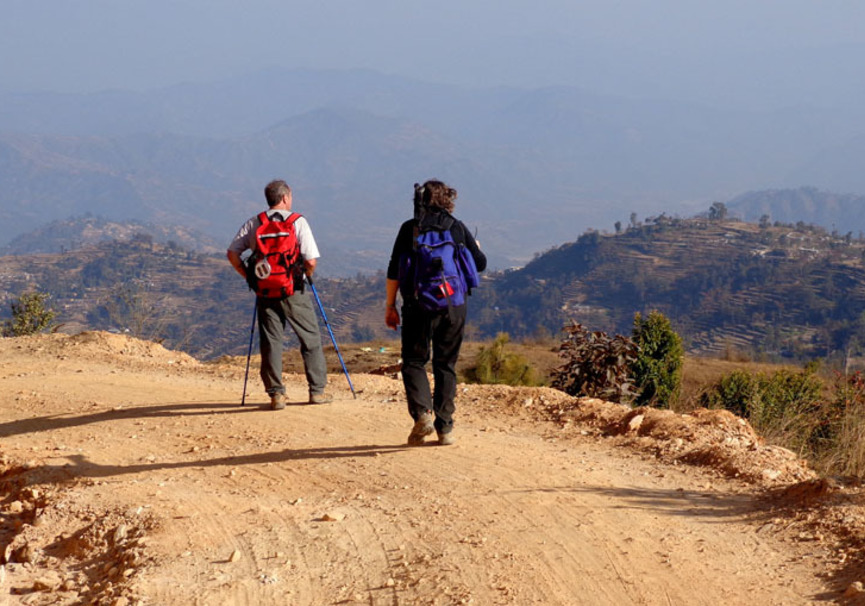 Medium nagarkot hike trail