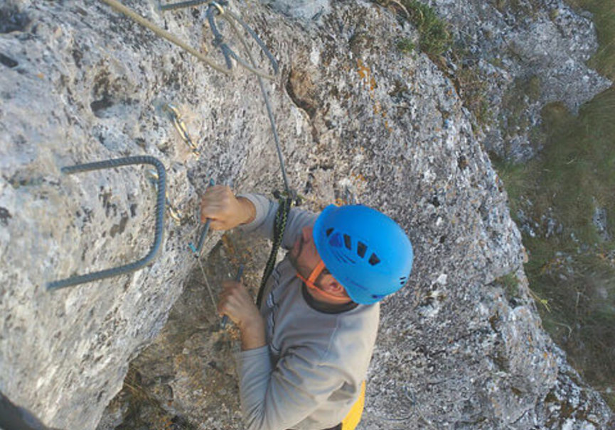 Medium via ferrata en burgos