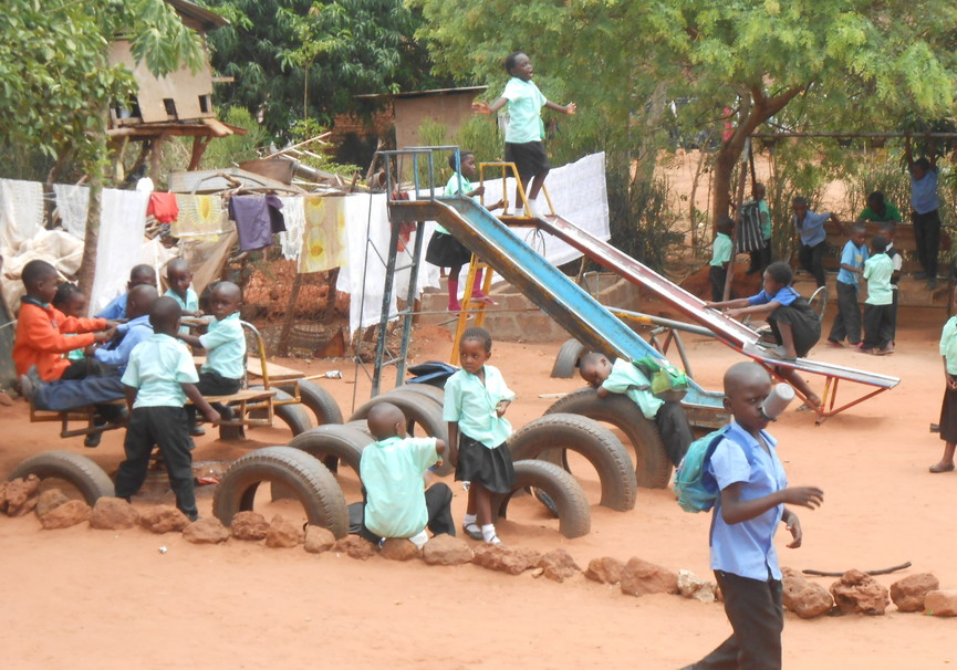Medium community school playground