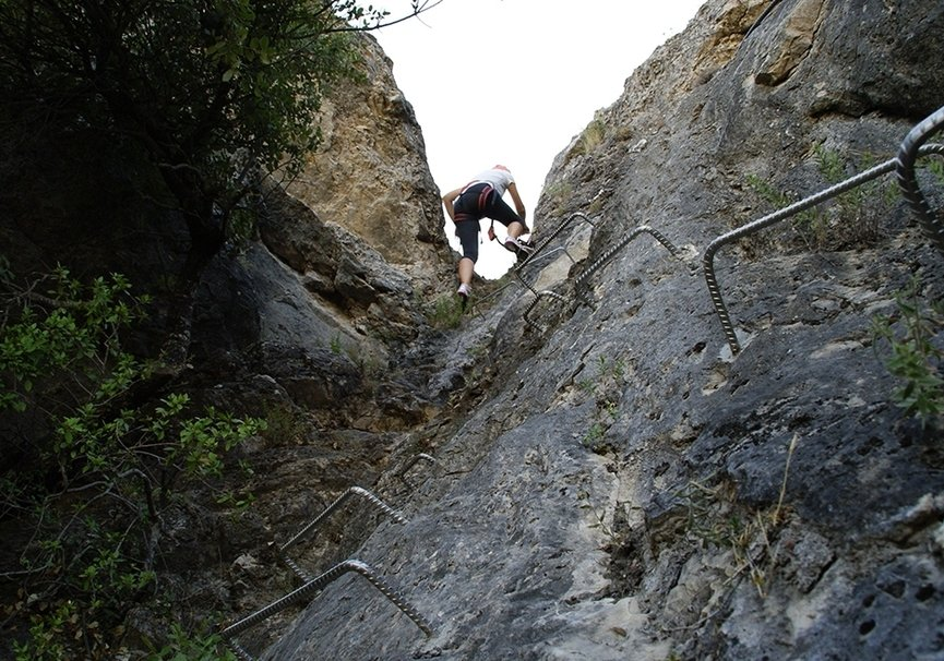 Medium tramo encajonado via ferrata cazorla