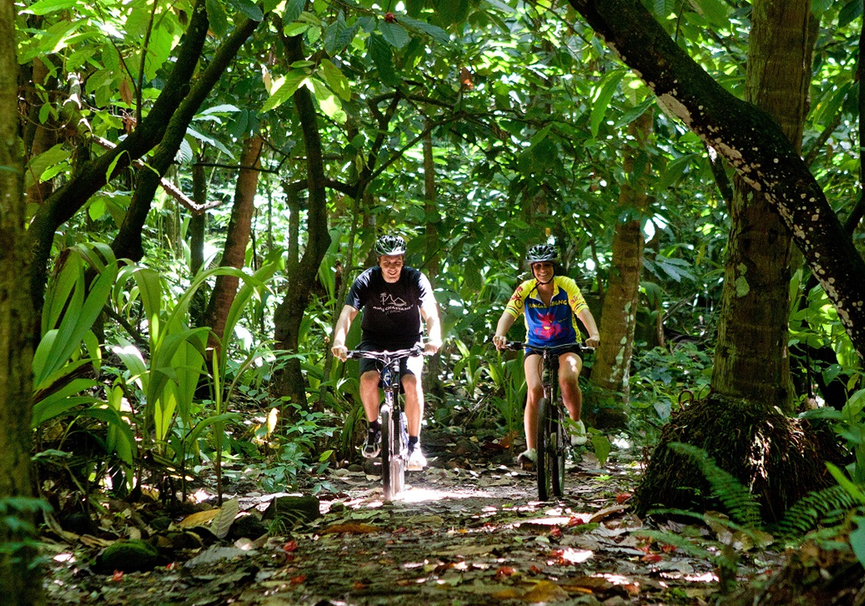 Medium tirolesas y bici ciclismo selva 2