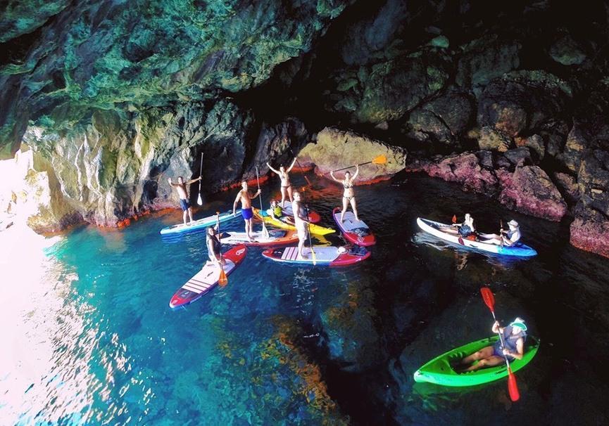 Medium ruta guiada de paddle surf o kayak por la herradura y maro1