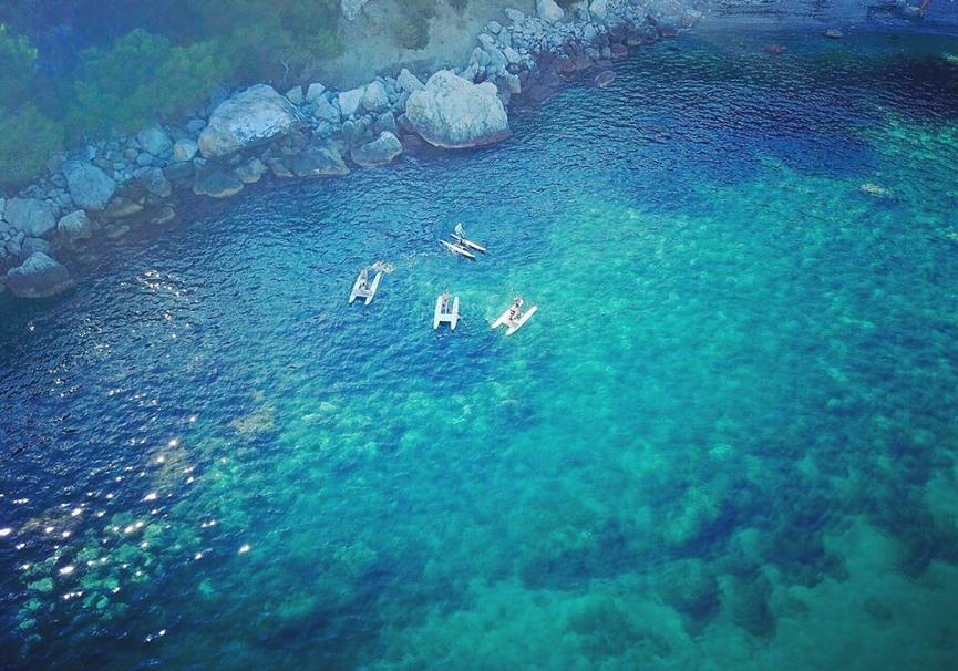 Medium ruta guiada de paddle surf o kayak por la herradura y maro13