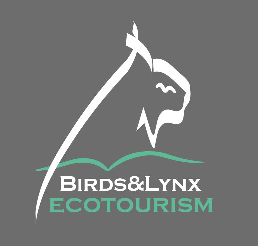Logo birds lynx ecotourism grueso gris 180x180